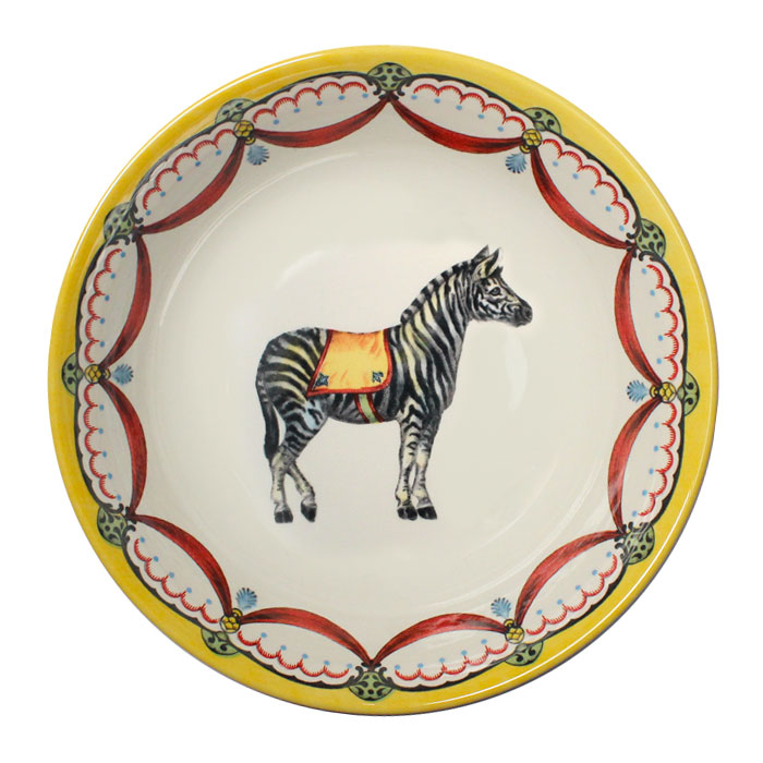 Royal Stafford Circus Wonders Cereal Bowl Zebra Pack 6       Music Gift