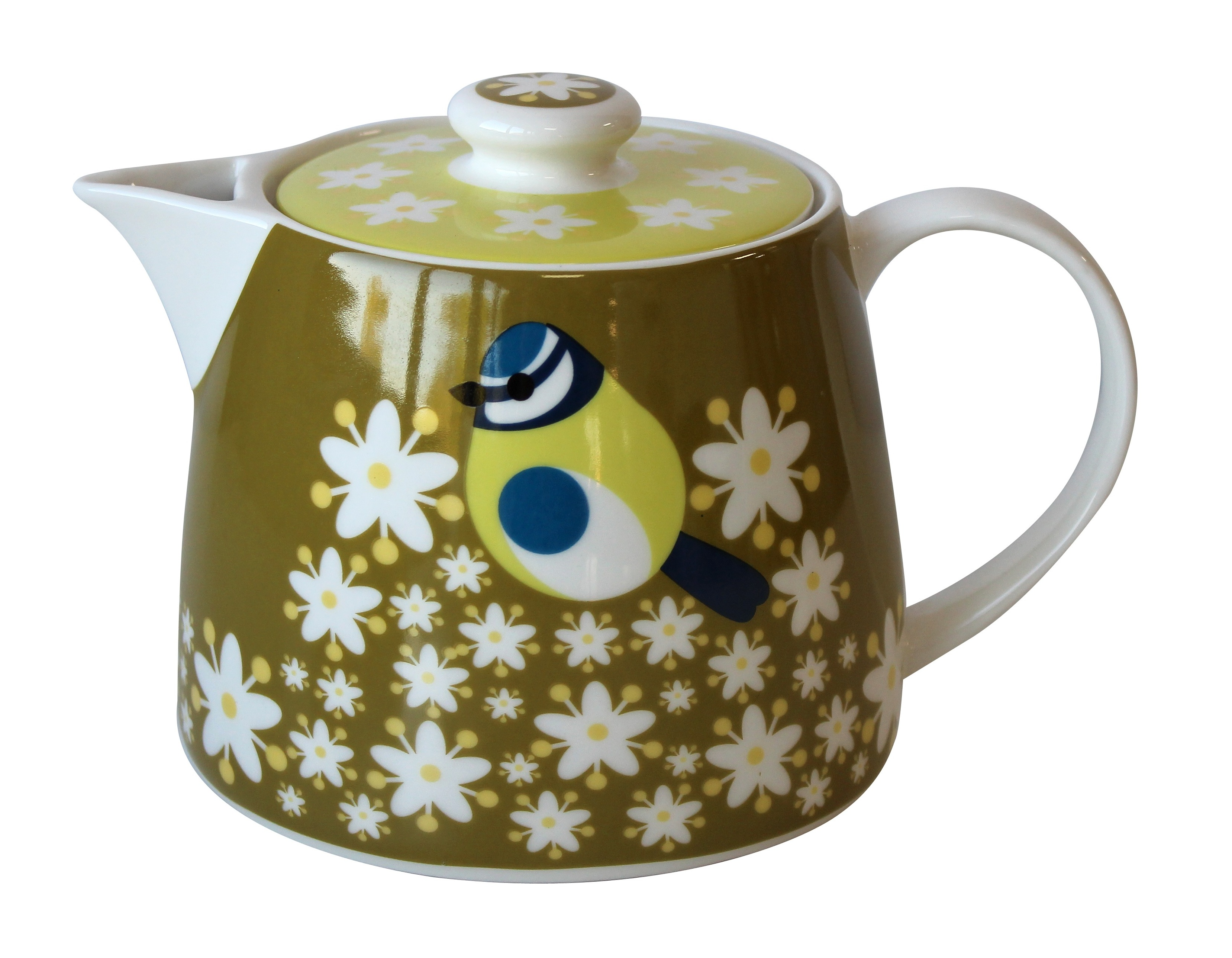 I Like Birds Teapot Blue Tit 1 Litre                         Music Gift