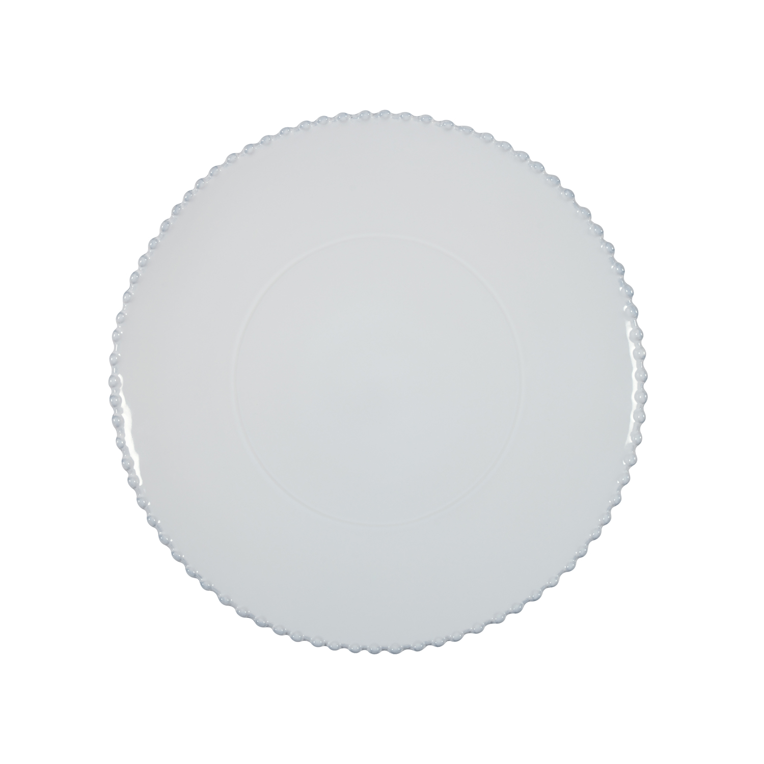 Pearl White Round Platter/ Charger 33cm X2                   Music Gift