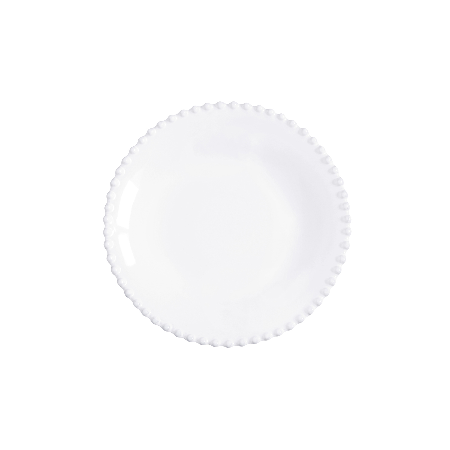 Pearl White Soup/pasta Plate 24cm X6                         Music Gift