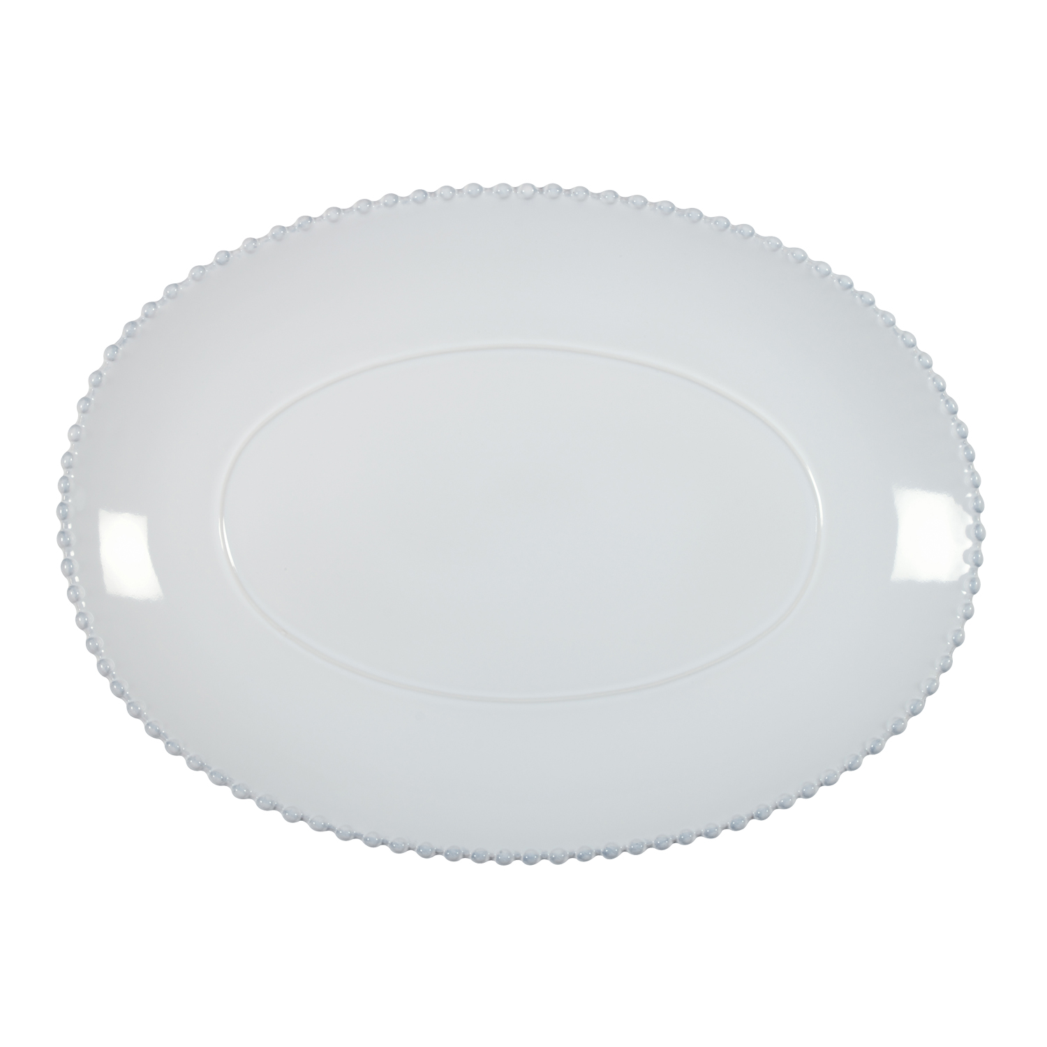 Pearl White Oval Platter Large 40cm X1                       Music Gift