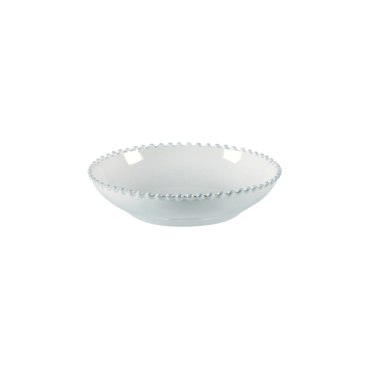 Pearl White Pasta Plate 23cm X6                              Music Gift