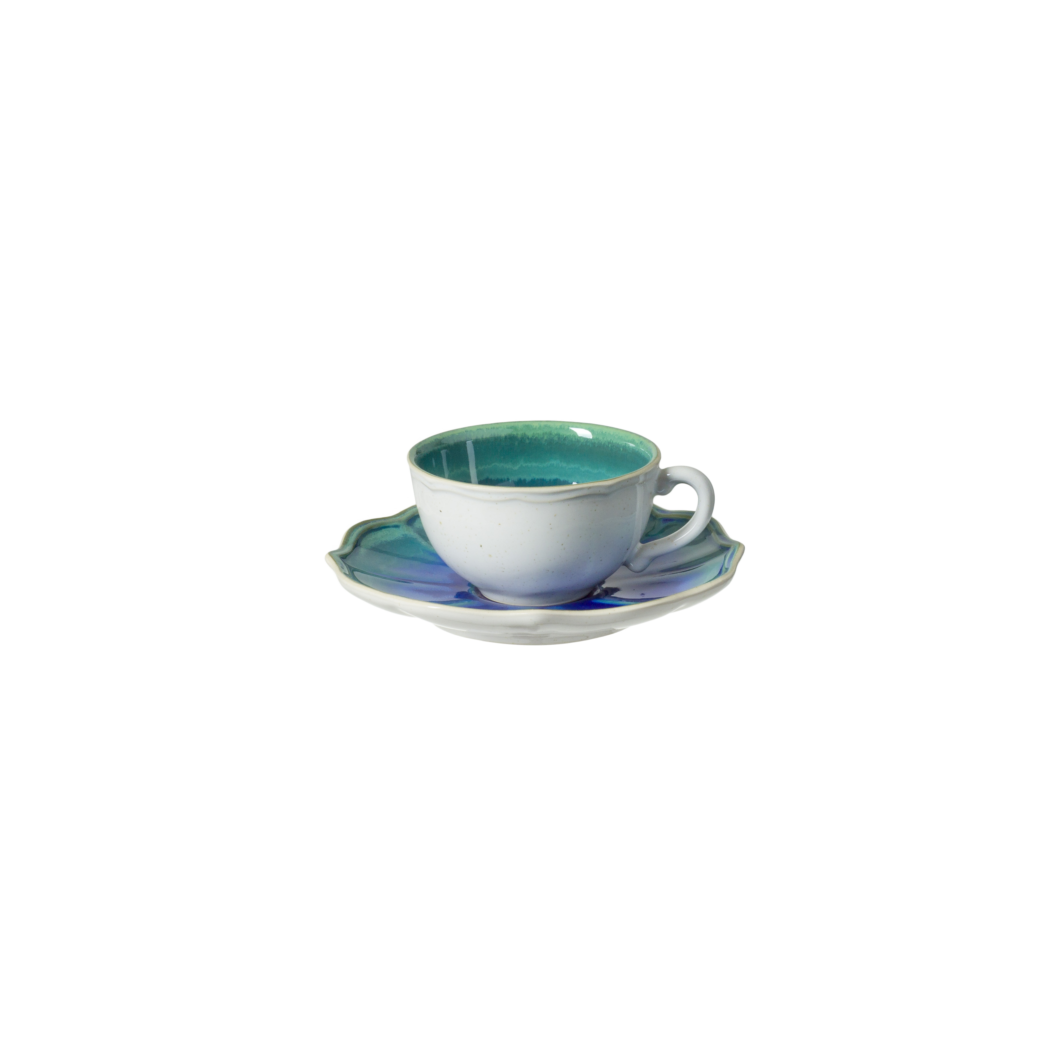 Dori Atlantic Blue Tea Cup And Saucer 0.19l X6               Music Gift
