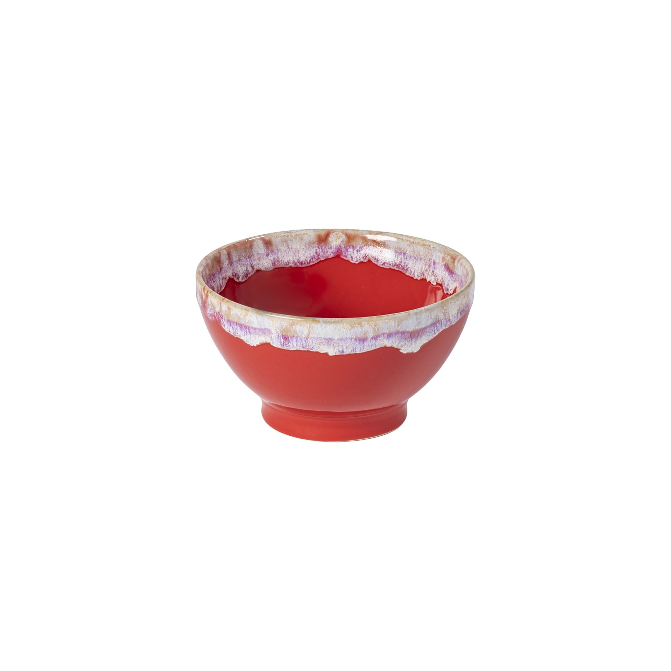 Latte Bowls Single Red Gift